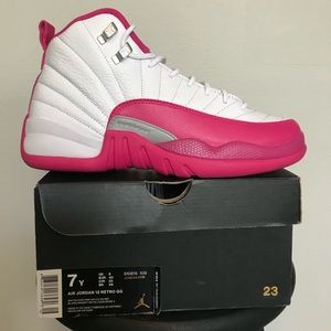 separation shoes 5cd20 7c01f Women Jordan Retro 12 Pink on Poshmark
